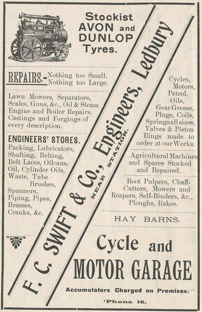 [1916 Tilleys Almanack Ad]