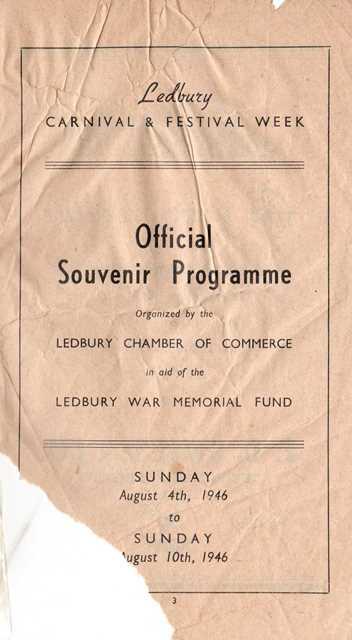 [1946 Carnival Programme]