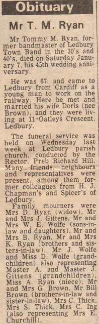[Obituary Mr RYAN]