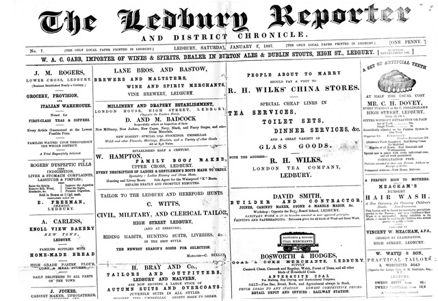 [Ledbury Reporter and District Chronicle]