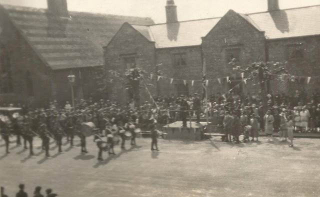 [First Battalion Parade in Ledbury Since The Great War]