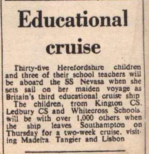 [1965 Educational Cruise]